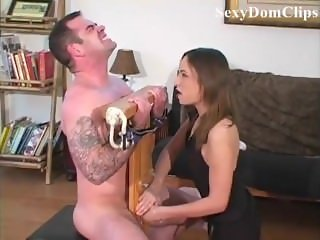 Sexydom -Sensual painful ballbusting to a lucky guy