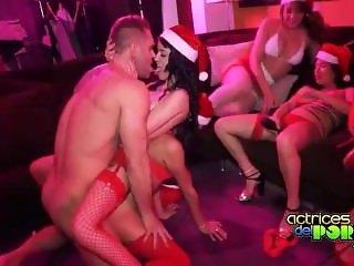 Santa hardcore orgy - Fuckitube.com