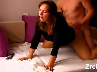 Mature mommy milf with big sexy butt hard anal. Boss and secretary