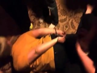 girl handcuffed and tickled