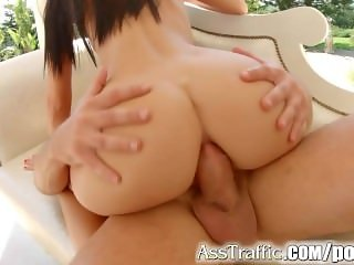 AssTraffic Leyla peachbloom gets rough and nasty ass fuck
