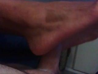 Big feet arab footjob