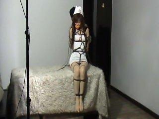 Asian nurse bondage