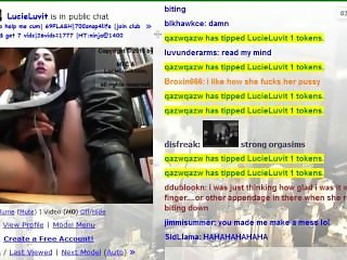 LucieLuvit MyFreeCams Fake Library Show (MFC)