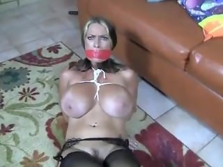 Goldie tied in Stockings