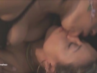 Brazilian lesbians kissing and licking each other noses