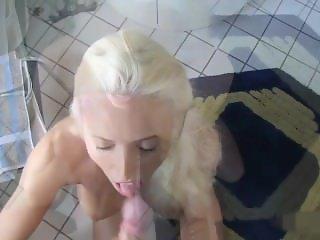 naughty-hotties.net - morning bathroom blowjob - down the hatch