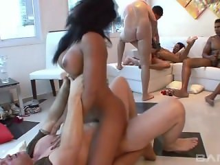 Anal Hardcore Orgy With Horny Latinas