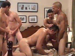 Ass full of cum gangbang
