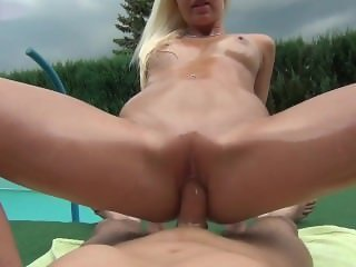 naughty-hotties.net - oiled up quickie by the pool