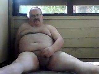 chubby man balcony