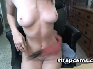 Nerdy Hot Teen Undressing And Masturbating