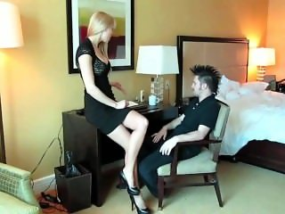 Rene office foot trampling