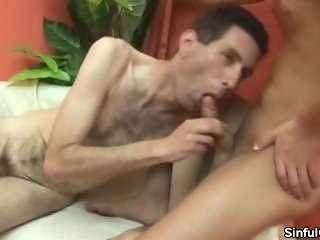 Hairy And Skinny Guy Gets Ass Fucked