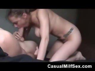 CasualMilfSex - Homemade Big Cock Blowjob Handjob and Tits Cumshot Amateur