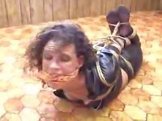 Hogtied in Leather