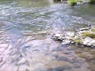 Soaking Feet in Natural Creek