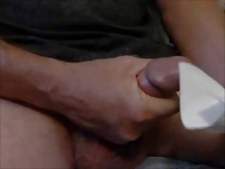 Greyhaired handsome grandpa unload his cock 3 times