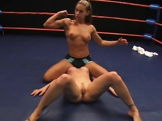 Hit fitness girl dominates wimpy redhead --- Wrestling lezdom