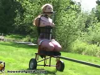 Mini lawn mower trailer fuck machine