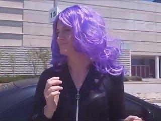 Tgirl Sissy Wears Catsuit In Public