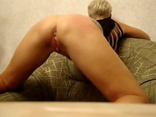 Spanked until she gets mega squirting orgasm