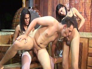 1609 Shemales Share An Ass - Scene 1