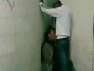 Beurette Suce Dans Une Cave. Real Arab Teen Caught By Friend Gives Blowjob
