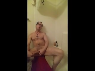 Oil and Orgasm Big Cock Play after a Shower
