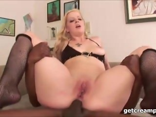 Interracial big cock guy creampied girls anal - from ass to mouth