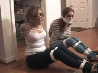 I tied up my babysitter and her friend