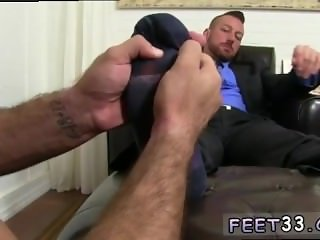 Young gay boys feet first time Hugh Hunter Worshiped Until He Cums