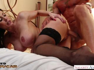 Busty MILF Kendra Lust takes a big dick deep in her pussy - Naughty America