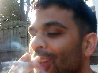 ryan enjoying a cigarette