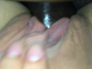 Blond wife gets the BBC nut