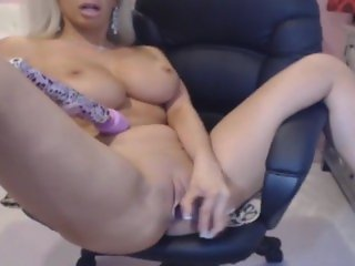 milf with huge tits licking her dildo like a real cock