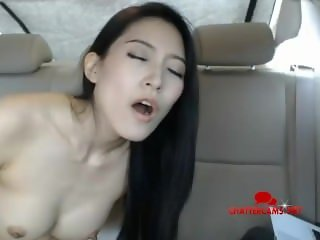 Asian Babe Car Backseat Multiple Orgasms Livecam