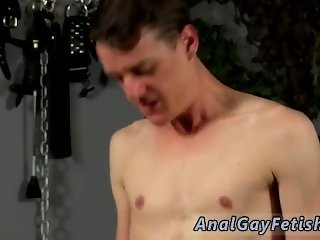 Gay spit roast bondage movies Fed lollipop in one end and continually