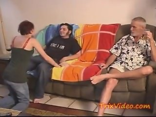 Boy fucked his GF infront of Her DADDY
