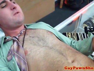 Shoplifter jock sucks cock for fear of jail