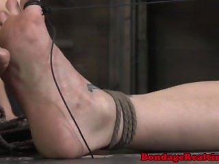 Breast bondage sub gets rough treatment