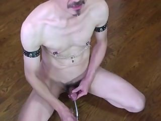 mustache man loving cock insertion