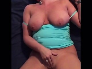 Pretty natural tits Milf gets fucked then masturbates for bf