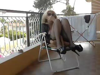 Italian milf on the balcony