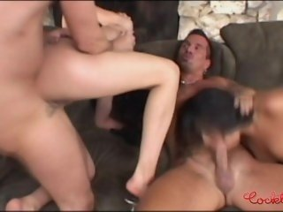 Wild Foursome With Latina Girls