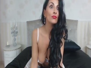 raven haired milf teases in stockings omegle