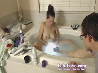 lelu love webcam bathtub shaving foot scrubbing
