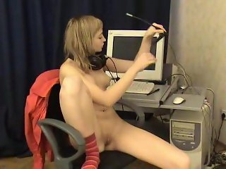 Girl masturbation microphone