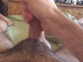 Solo jerk in bed