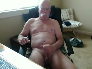 Married grandpa unloading his cock
